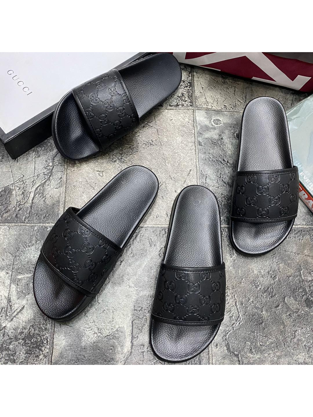 Buy New Unisex Gucci Slides Slippers Black In Lagos Nigeria On Dexstitches